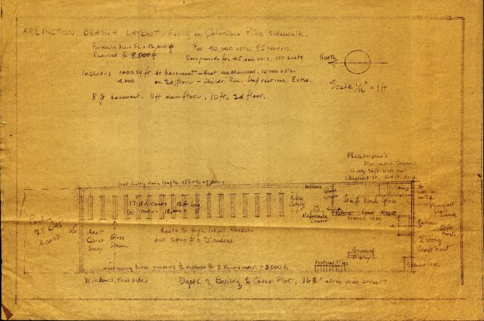 Architectural Drawing of Columbia Pike, n.d.