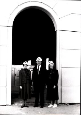 Bozman at Courthouse Plaza Construction; 1987