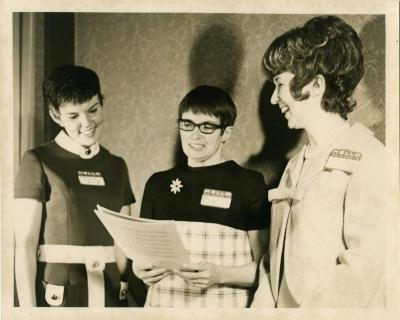 Susan Rice, Joan D'Amico, unknown, March, 1971