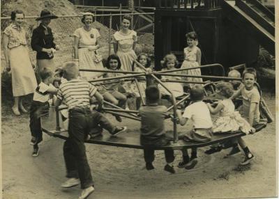 Overlee Preschool Open House, 1957