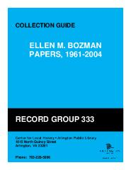 Ellen M. Bozman Papers, 1961-2004 Collection Guide