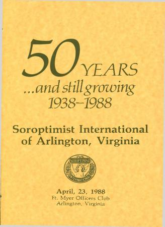 """""""50 Years…and still growing 1938-1988"""""""