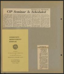 Virginia General Federation of Women's Clubs Community Improvement Seminar and Newspaper Articles, 1969, front cover of brochure